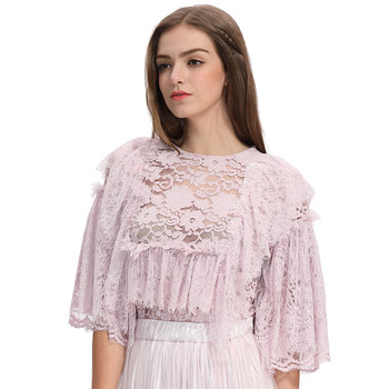 490df84c81ba59 New Fashion Women Fancy Lace Latest Blouse Styles And Skirt Designs ...