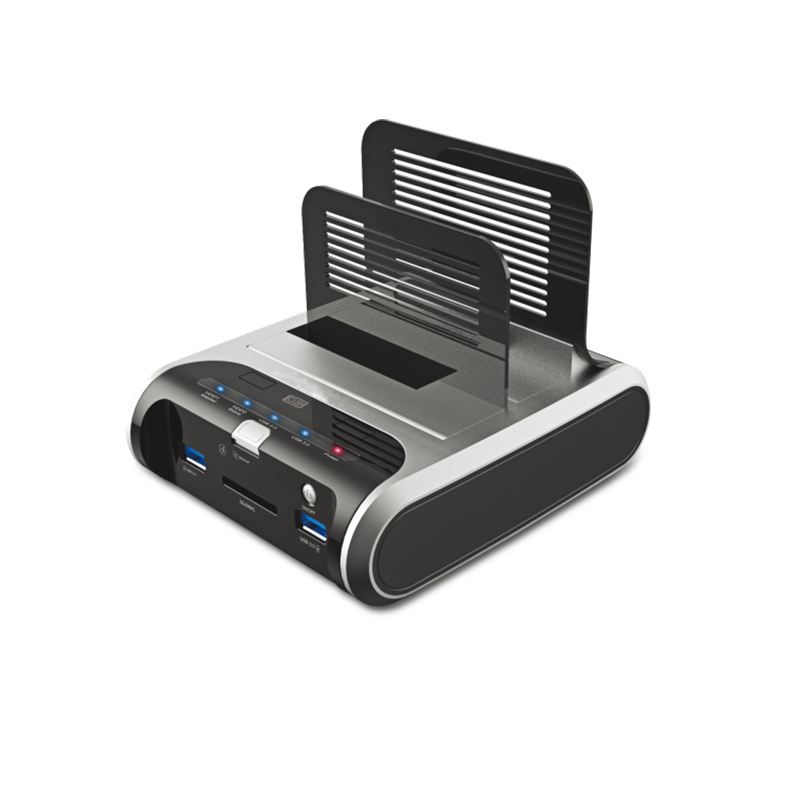 USB 3.0 super speed 5Gbps laptop docking station,supports 2TB over HDD,plug-and-play,hot-swappable,CE,FCC