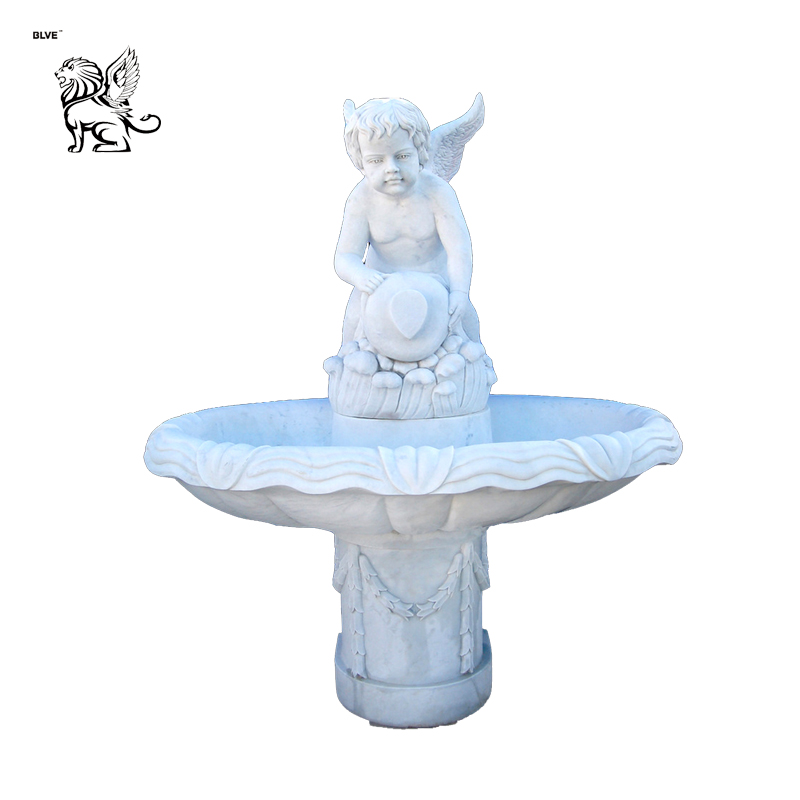europe outdoor cherub fountain for decoration MFG-137