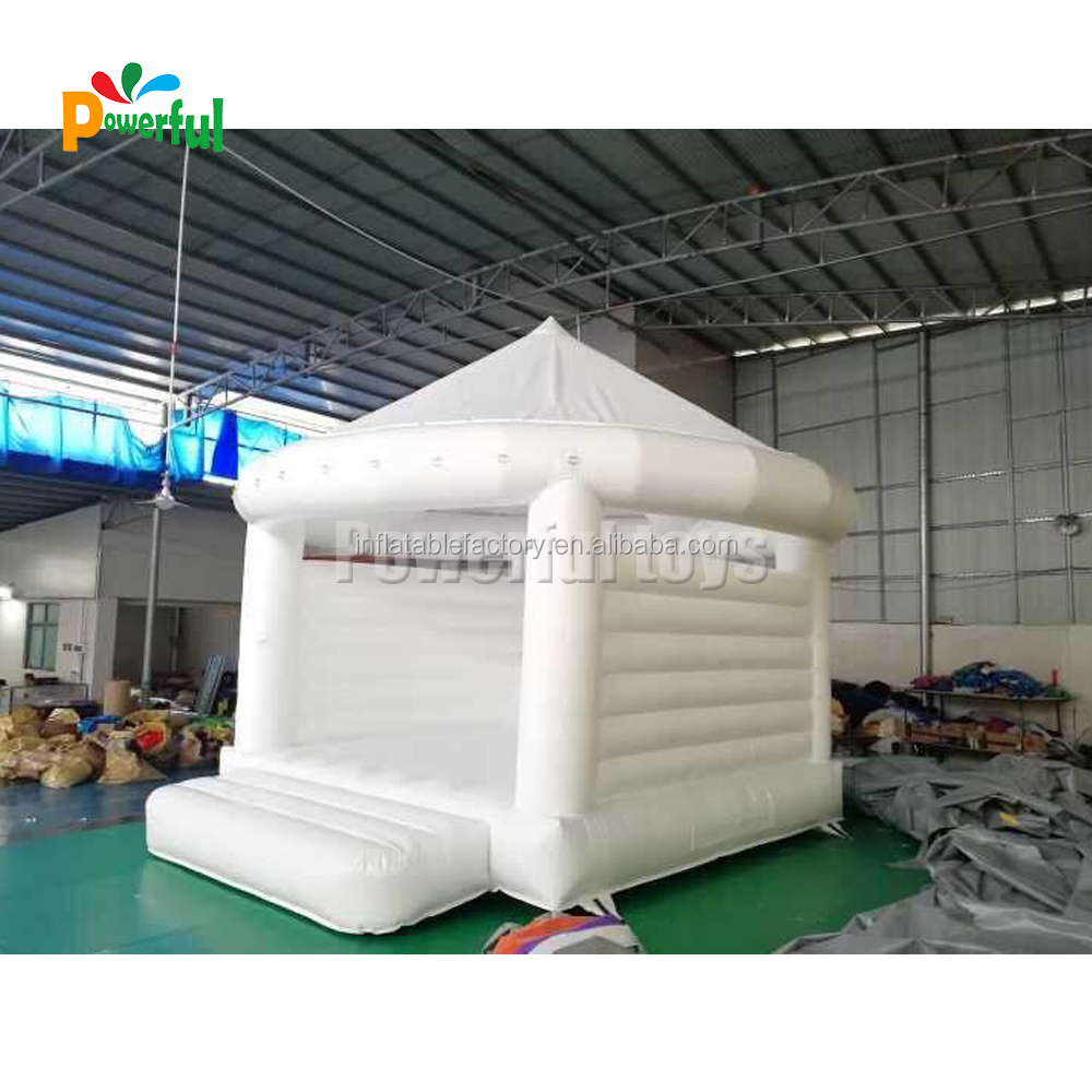 Inflatable Bouncy Castle White Bounce House For Wedding