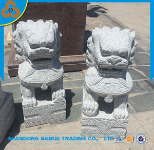 Garden stone carved chinese fu dog statue for sale