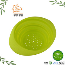 Creative Design Silicone Collapsible Fruit Basket /Folding Bowl Container/Foldable Silicone Fruit Plate
