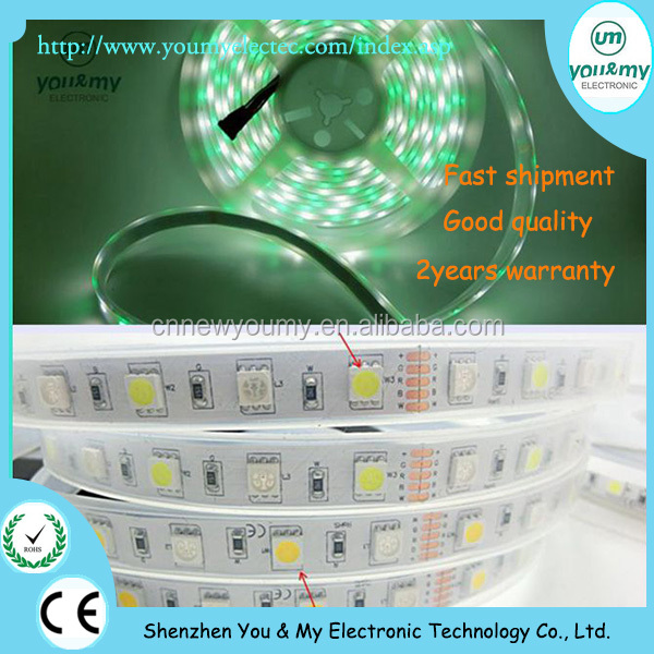 5050 SMD 5M RGBW Led Strips Light 300Leds 5M Roll TUBE Waterproof IP67 DC 12V