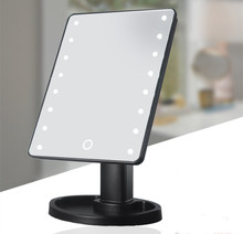 Touch Screen 메이 컵 LED Mirror 360 Degree Rotation <span class=keywords><strong>화장품</strong></span> 접는 휴대용 Compact Pocket 와 16/22 LED <span class=keywords><strong>빛</strong></span> 메이 컵 Mirror