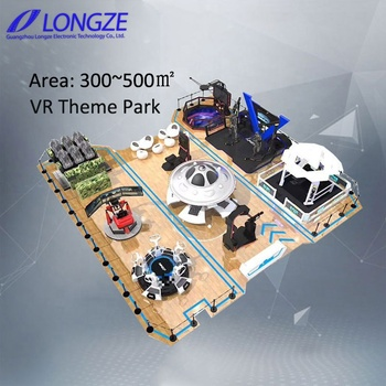 VR Theme Park One Stop One Stop 9dvr Experience Hall VR Space VR 9d Virtual Reality Simulator for Sale
