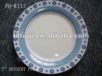 7.5\u0026quot;round ceramic plate with custom printed porcelain personalize dinner plates and dishes cheap bulk & 7.5\