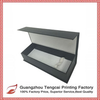 Customized rigid paper folden gift box with golden foil /hot stamping