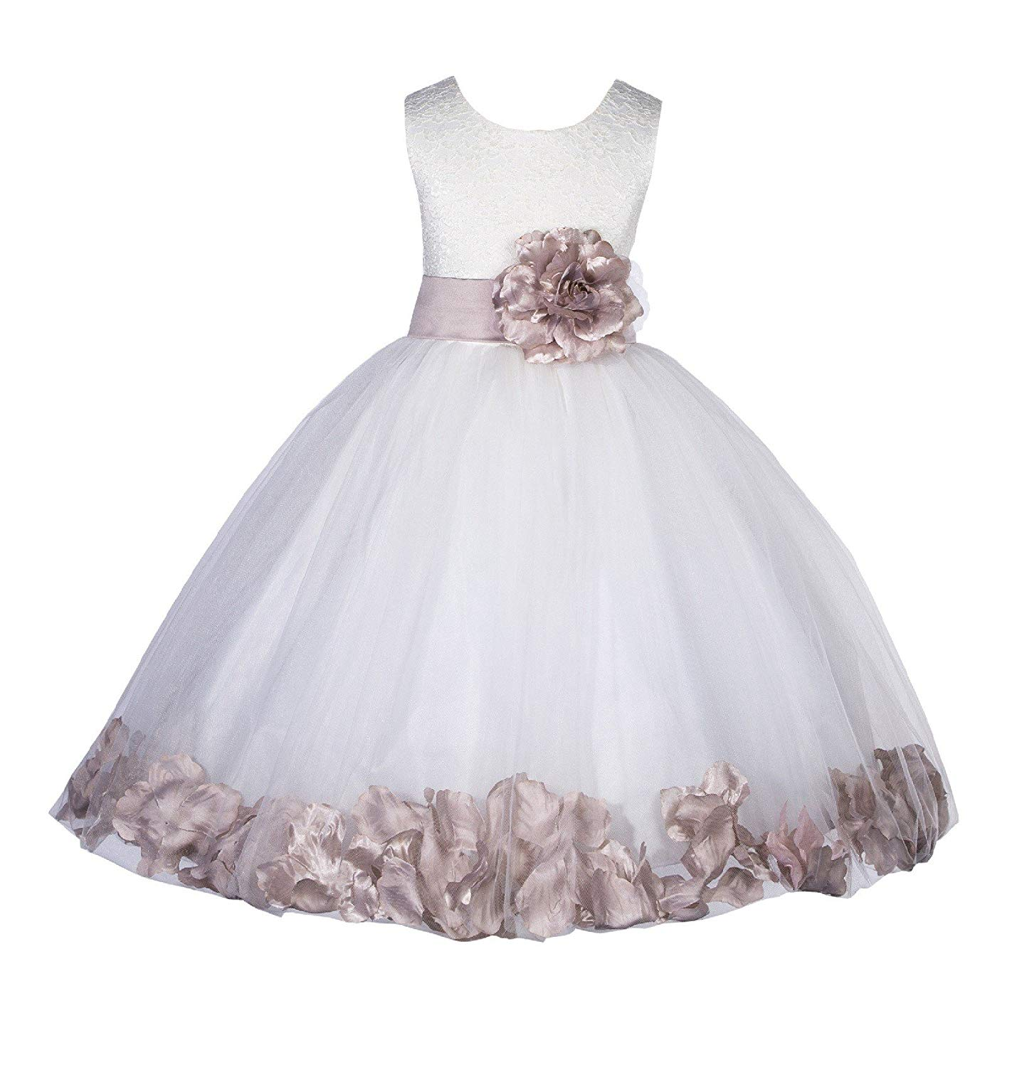8a4c16872 Cheap Lace Ivory Flower Girl Dress