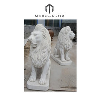 custom hand carved garden decoration life size marble lion statue animal sculpture