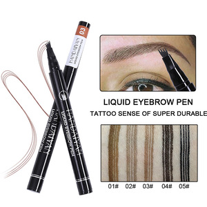 HANDAIYAN four head tattoo eyebrow pen fine sketch 4 fork liquid eyebrow pencil waterproof semipermanent eyebrows 5 colors