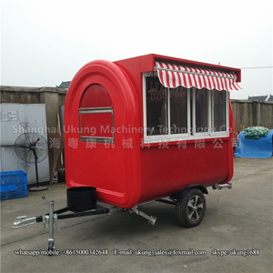 FT-165, 230cm, red, with silding glass and awning, stainless steel inside,  to DAMMAM ice cream cart