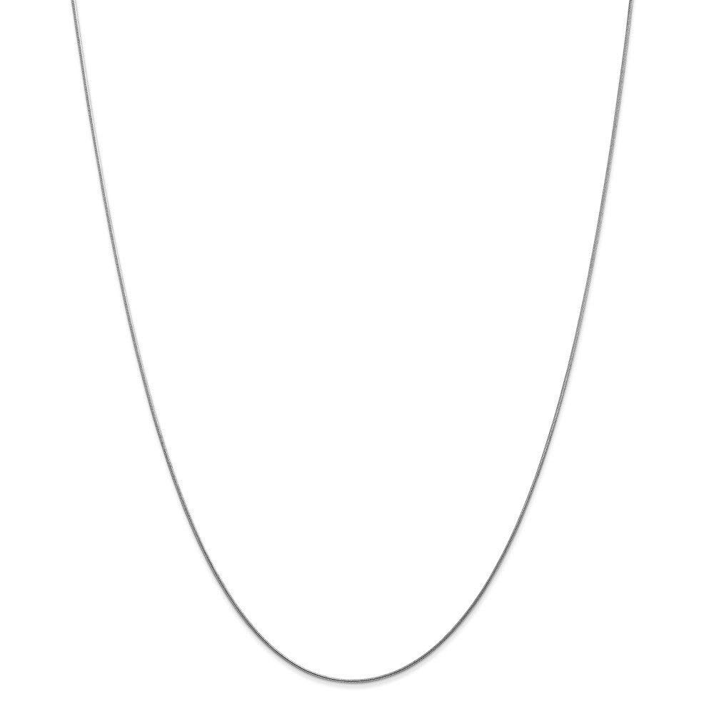 Top 10 Jewelry Gift 14k White Gold .80mm Round Snake Chain