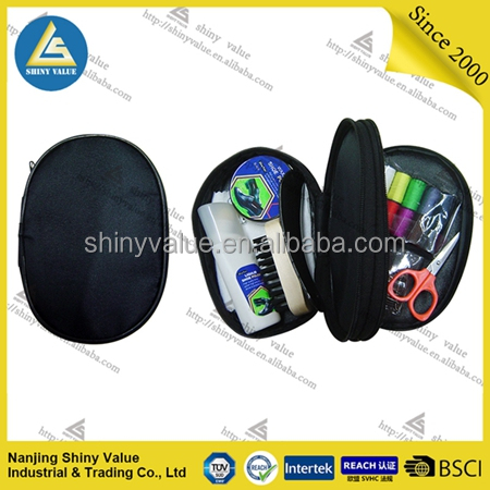 High performance polyester bag shoe polish kit with different colors available