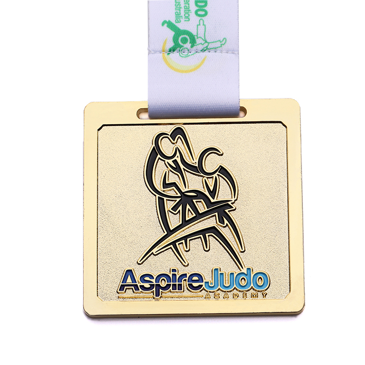 Personalized customization enamel own design metal gold judo sports medal
