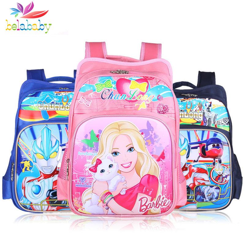 Belababy 2016 boy Cartoon Primary school bags children satchel kids Mochila School Bags childrens backpacks for girls