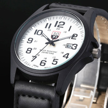 Brand sport Military Watches fashion casual quartz watch Leather  Analog men 2015 new SOKI Luxury wristwatch Relogio Masculino