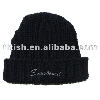 Wholesale Knitting Beanie Black Knitted Watch Cap - Buy Black ... 3ea55a783