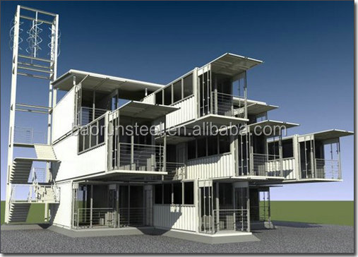 Luxury Modern Prefabricated House,Steel Prefab House Modular