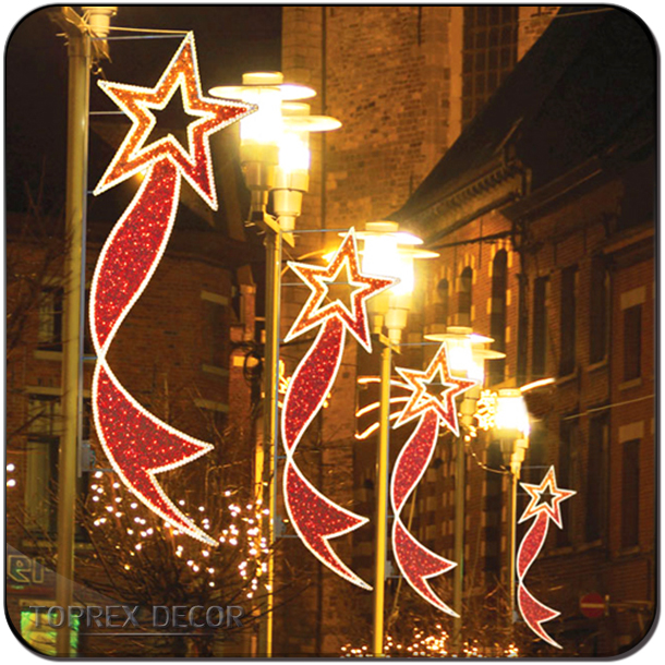 Christmas ornaments 2017 led motif street lighting pole