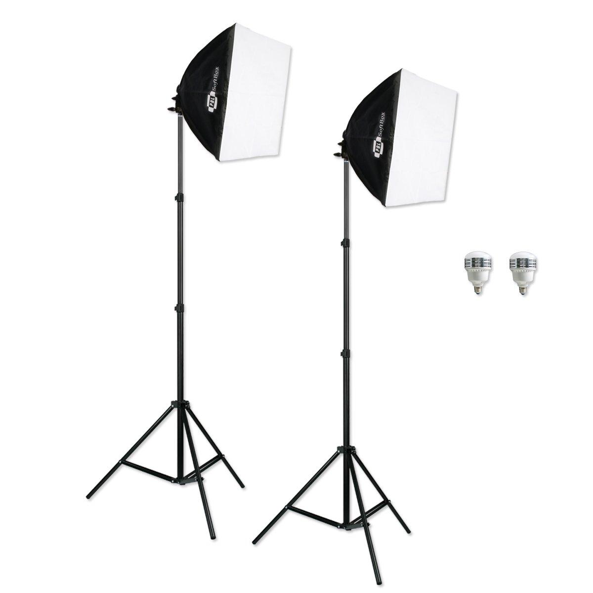 ePhoto Photography Vidoe Lighting Kit ChromaKey Green Blak White 10x20 Screen Video Lighting Kit by ePhotoInc HKZ05