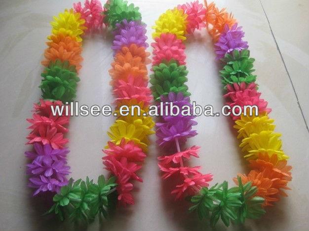 Vf 1001 Hawaiana Flor Leis Coronas Collar Para Vacaciones Fiesta