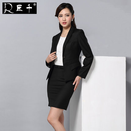 Fashion formal wear business suit for women skirts blazer and skirt set ladies formal skirt suit