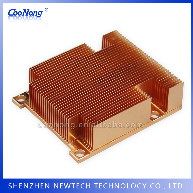 Fast shipping skived 1U 20mm customize mm metals heatsink for luxeon
