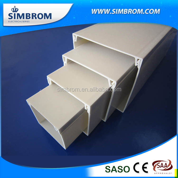 Custom Ware Accessories Light Weight Wall Cable Pvc Trunking