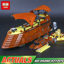 Lepin 05090 Star Series War 821Pcs The Ja`s Sail Barge Set Children Educational Building Blocks Bricks Toy Model LegoINGlys 6210