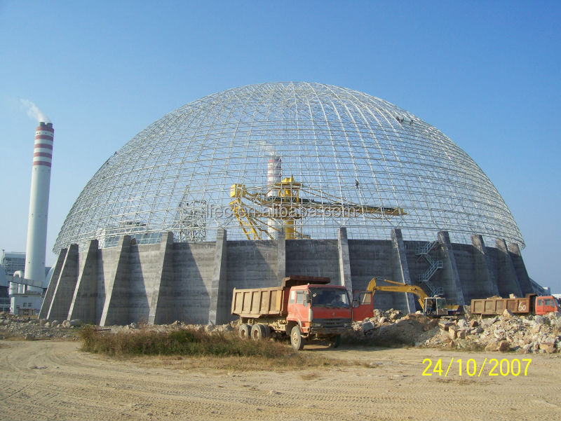 China project with buidling glass dome in Togo