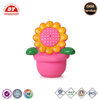 ICTI certificated custom make vinyl flower shape squeeze toy with tongue