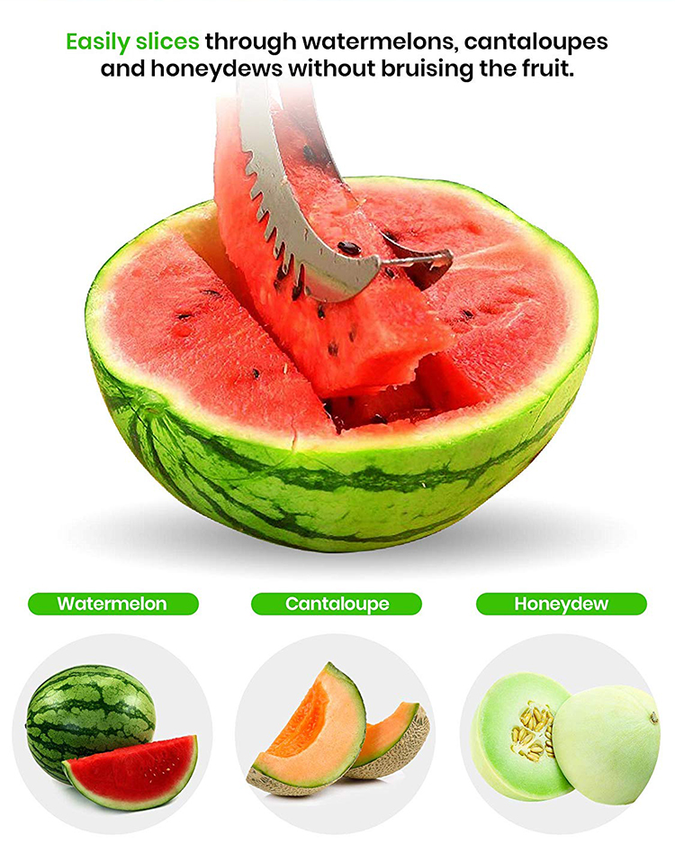 Innovation kitchen gadgets stainless steel water melon slicer