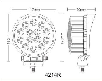 12V/24V 42W Epistar Led Work Light round/Work Lamp for ATV, SUV, UTV, Truck, tractor, Offroad Led Fog Light