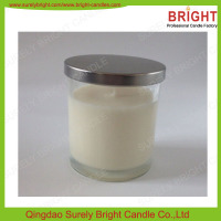 China Manufacture High Quality Soy Glass Jar Candle For Home Decor