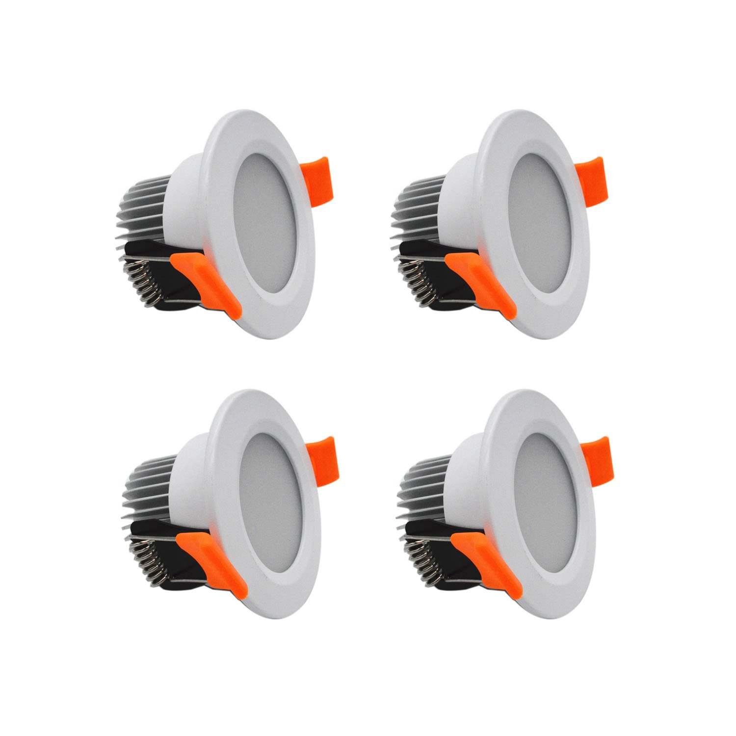 ZDPCYT 3W LED Downlight 12VDC Ceiling Light 180 Beam Angle Recessed mini Lamp 3000K-3500K Warm White Spotlights Fixture Trim Pack of 4 With LED Driver(Not Including 110/220-12V Power Adapter)
