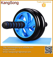 High quality abdominal exercise double wheel strength traning ab roller