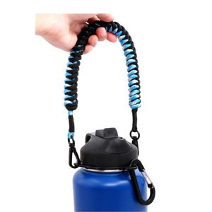 Most Popular Hot Selling Thin Blue Red Line Series Survival Paracord Bottle Handle