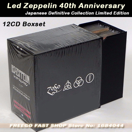 high quality led zeppelin 40th anniversary cd boxset 12 disc japanese definitive collection. Black Bedroom Furniture Sets. Home Design Ideas
