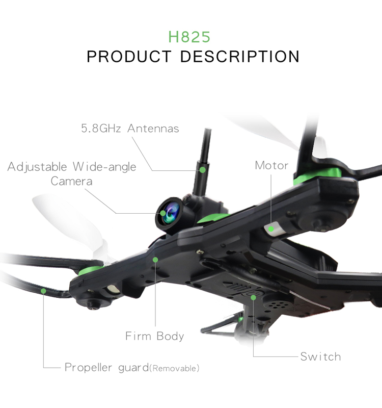 Flytec_H825G_RC_Drone_5.8G_VR_Racing_Quadcopter_Wide_Angle_Camera_FPV_High_Speed_RTF_Mini_Drones_Toys_10