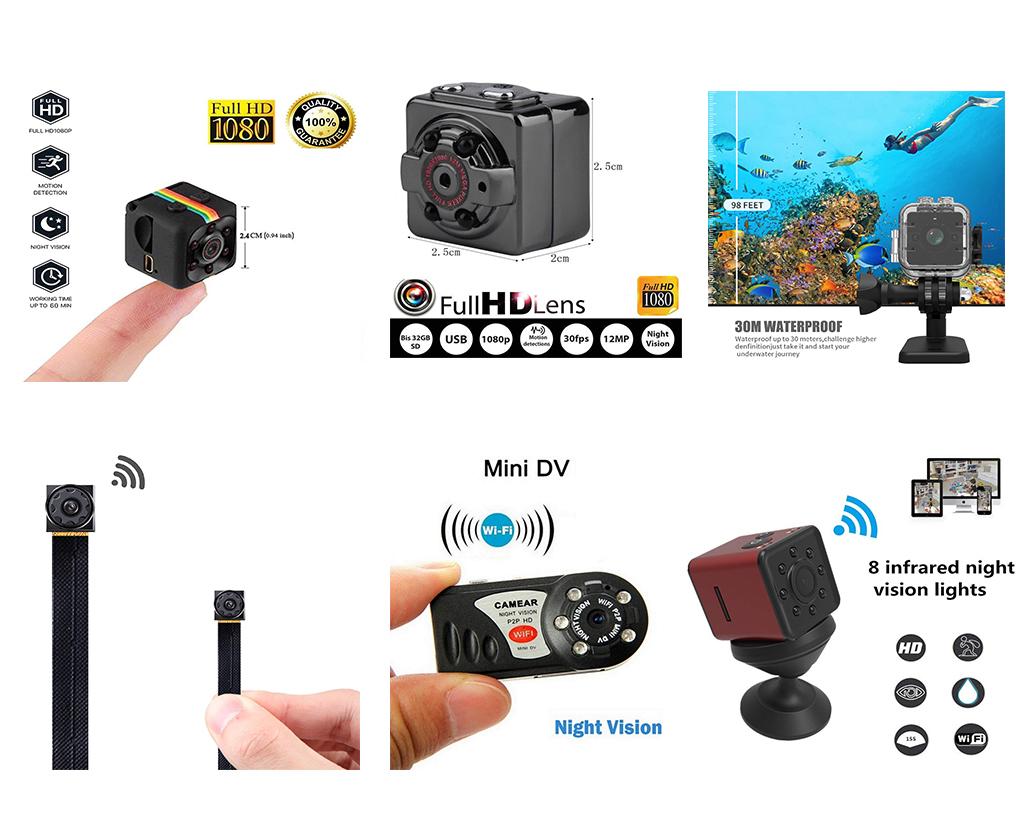 Taşınabilir HD DV Casus Mini Gizli Kamera SQ11 Full HD 1080 P mini dv spor eylem video kamera