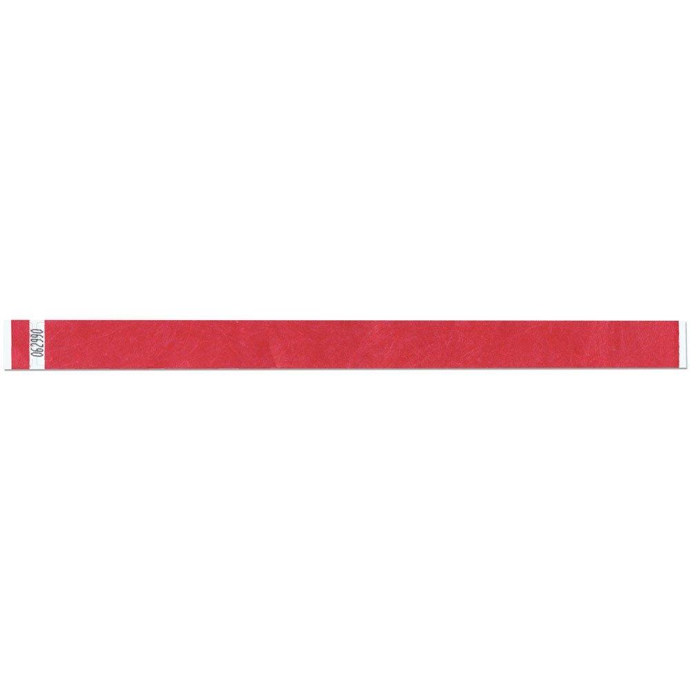 3/4 Inch Tyvek Tytan-Band® Wristbands - Economical Comfortable Tear Resistant - Cranberry - 500 Pieces Per Box