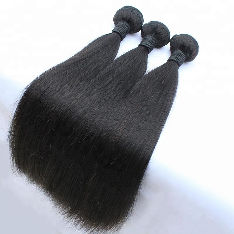 Indian High Quality Natural Color Silky Straight Human Bulk Hair Extension