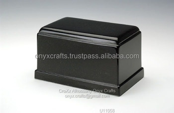 caskers shape Jet Black marble Urn in Cheap Price