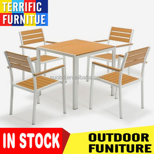 In stock Outdoor Plastic Public Garden Furniture with Chair and Table