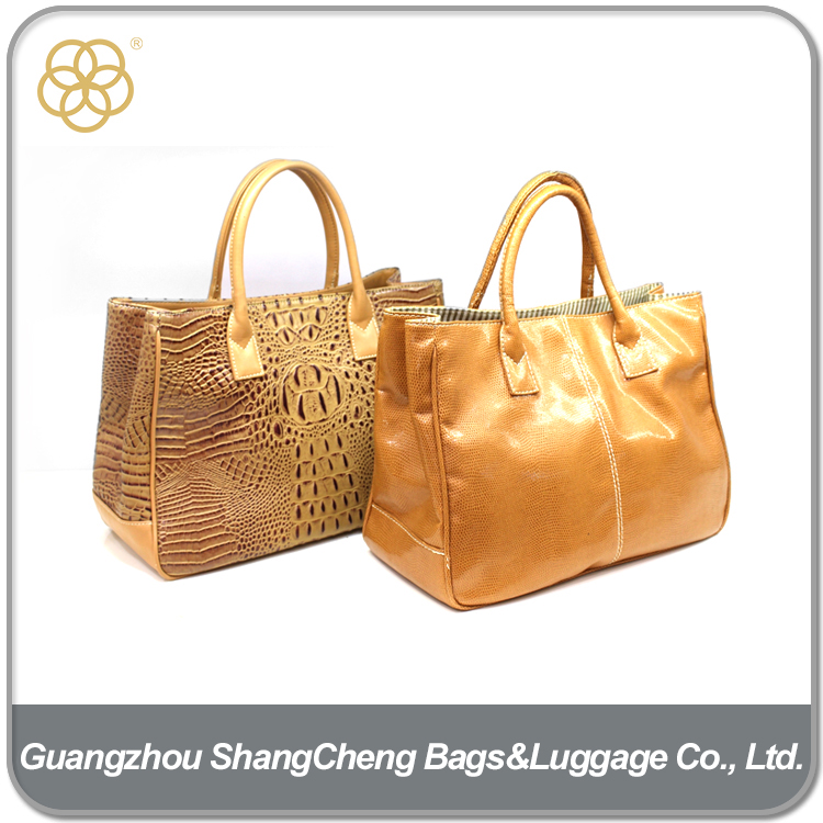 Cheap Women PU Leather Hand Bags Set For Traveling