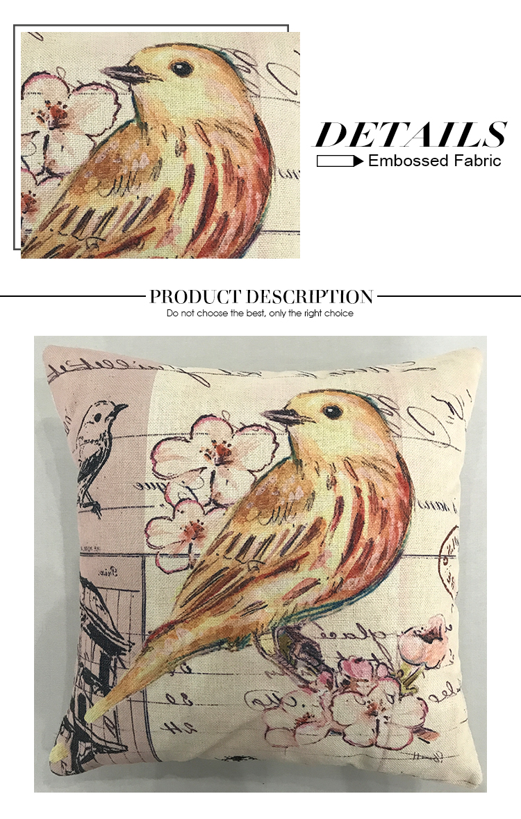 china sofa decorative animal pattern printed cushion pillow case cover