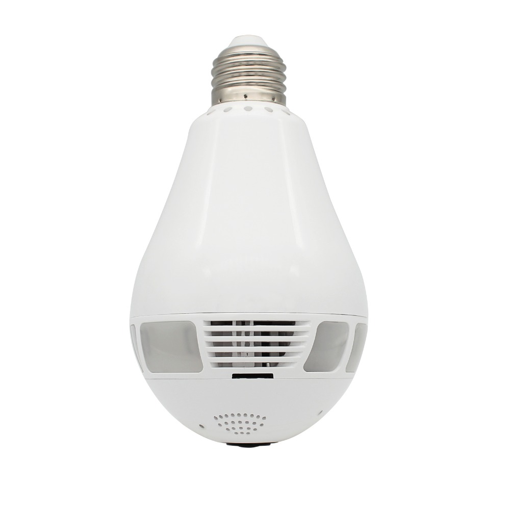Hot in Amazon smart mini size easy hidden wireless wifi ceiling led lighting bulb IR 10M with night vision