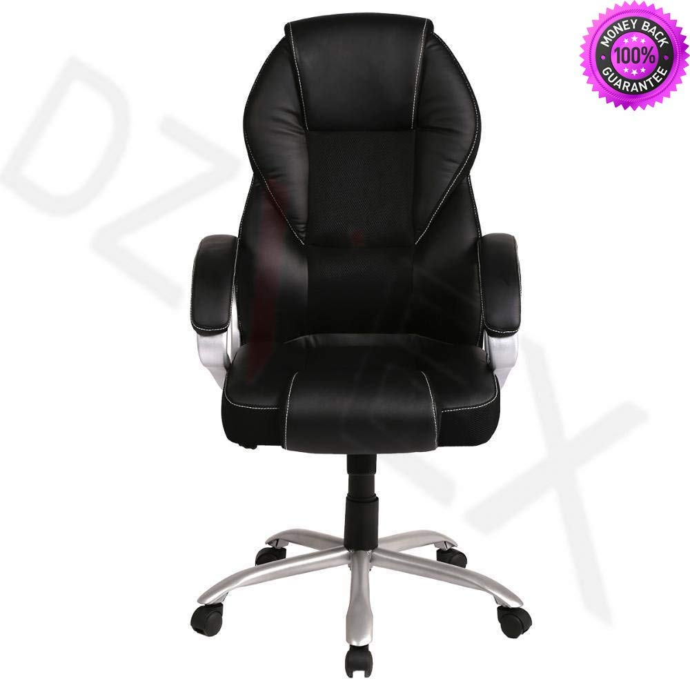 DzVeX_New High Back PU Leather Office Chair Ergonomic Executive Task Chair Swivel T96 And Comfortable, soft PU leather upholstery with ample padding, oil and water resistence.The Pneumatic Gas Seat