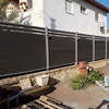 decorative modern garden fence wood plastic composite fence panels with aluminum post
