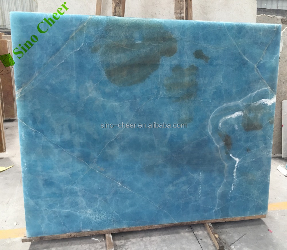 Laminated Glass Onyx Blue And White
